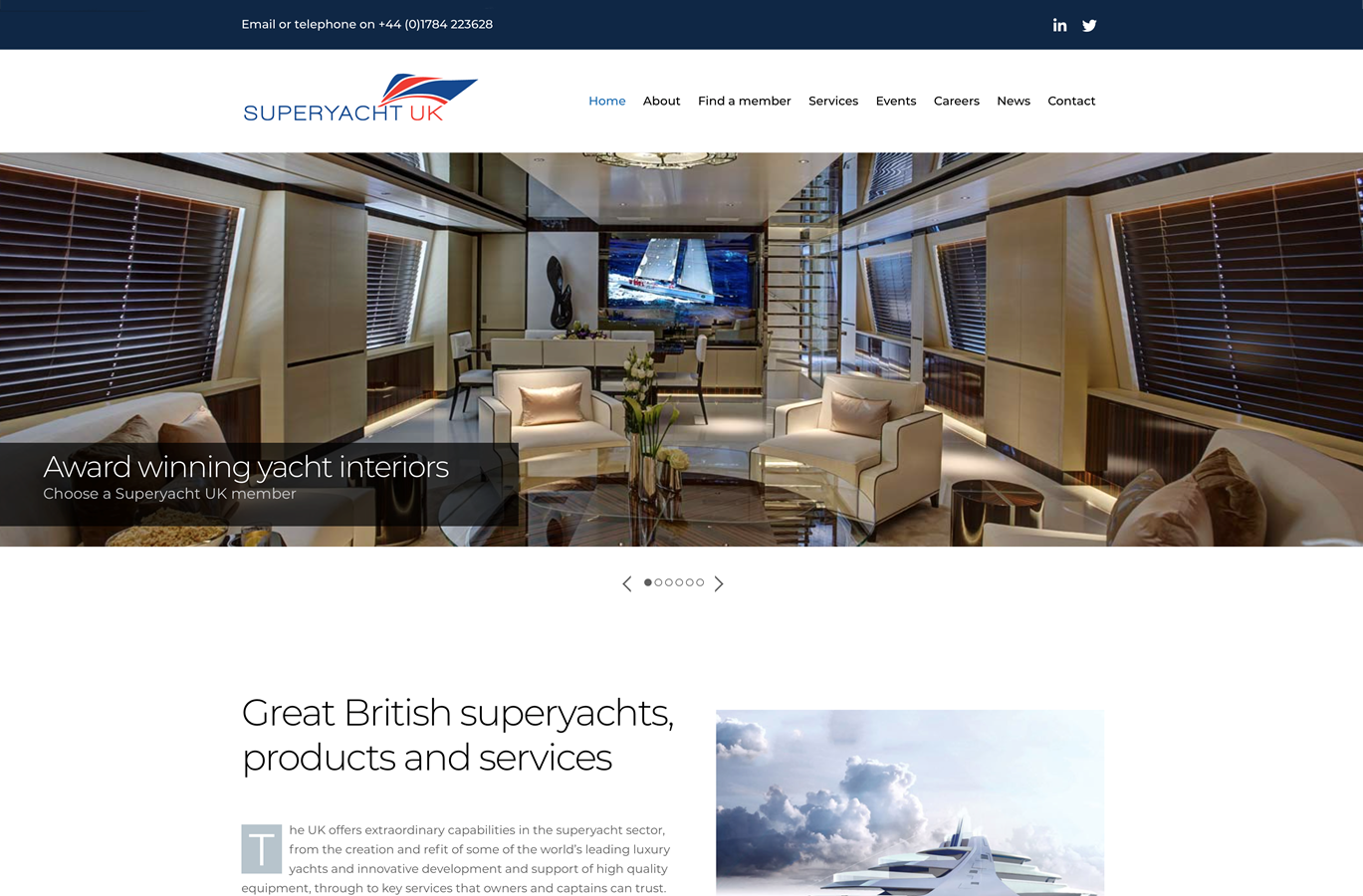 Superyacht UK SYUK website