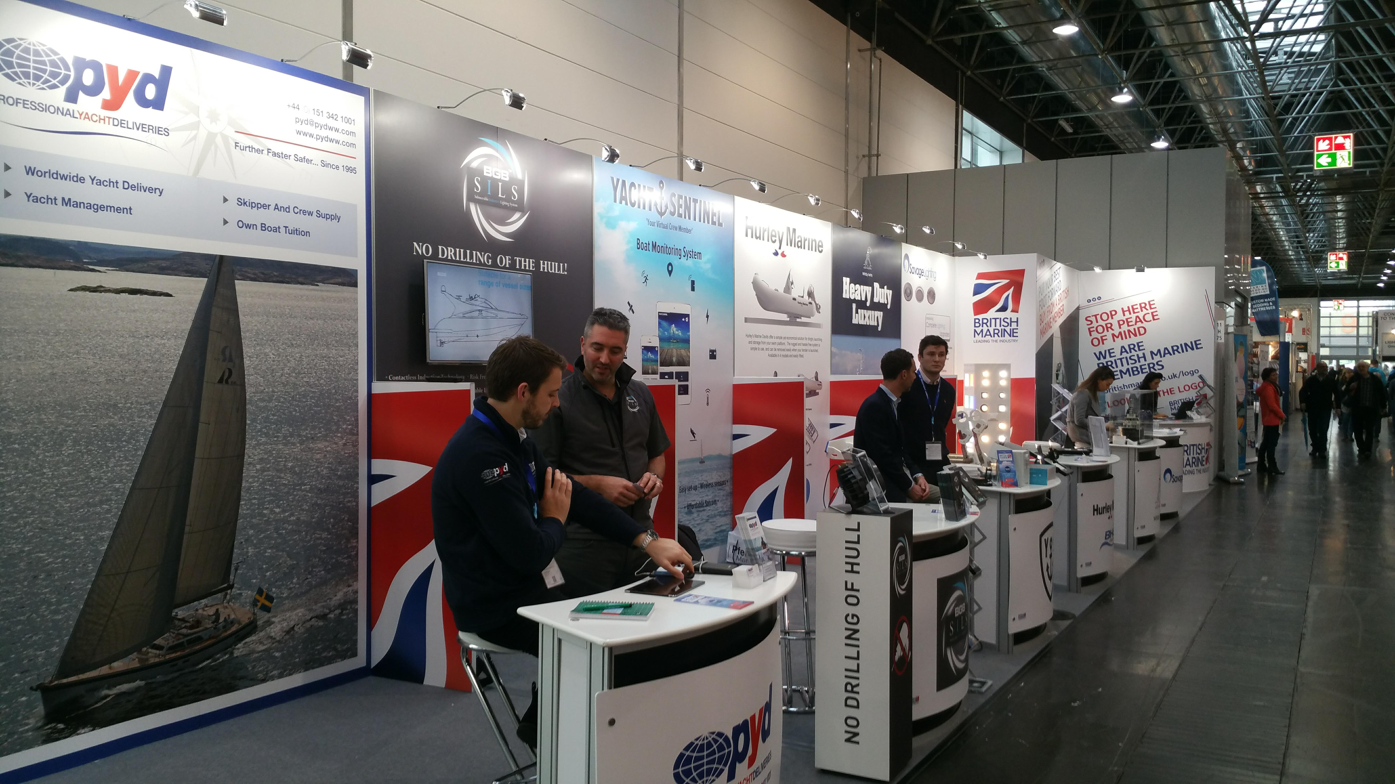 British Marine stand at BOOT 2018