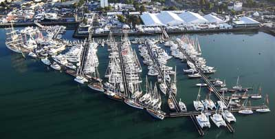 Aerial view of the Southampton Boat Show 2016