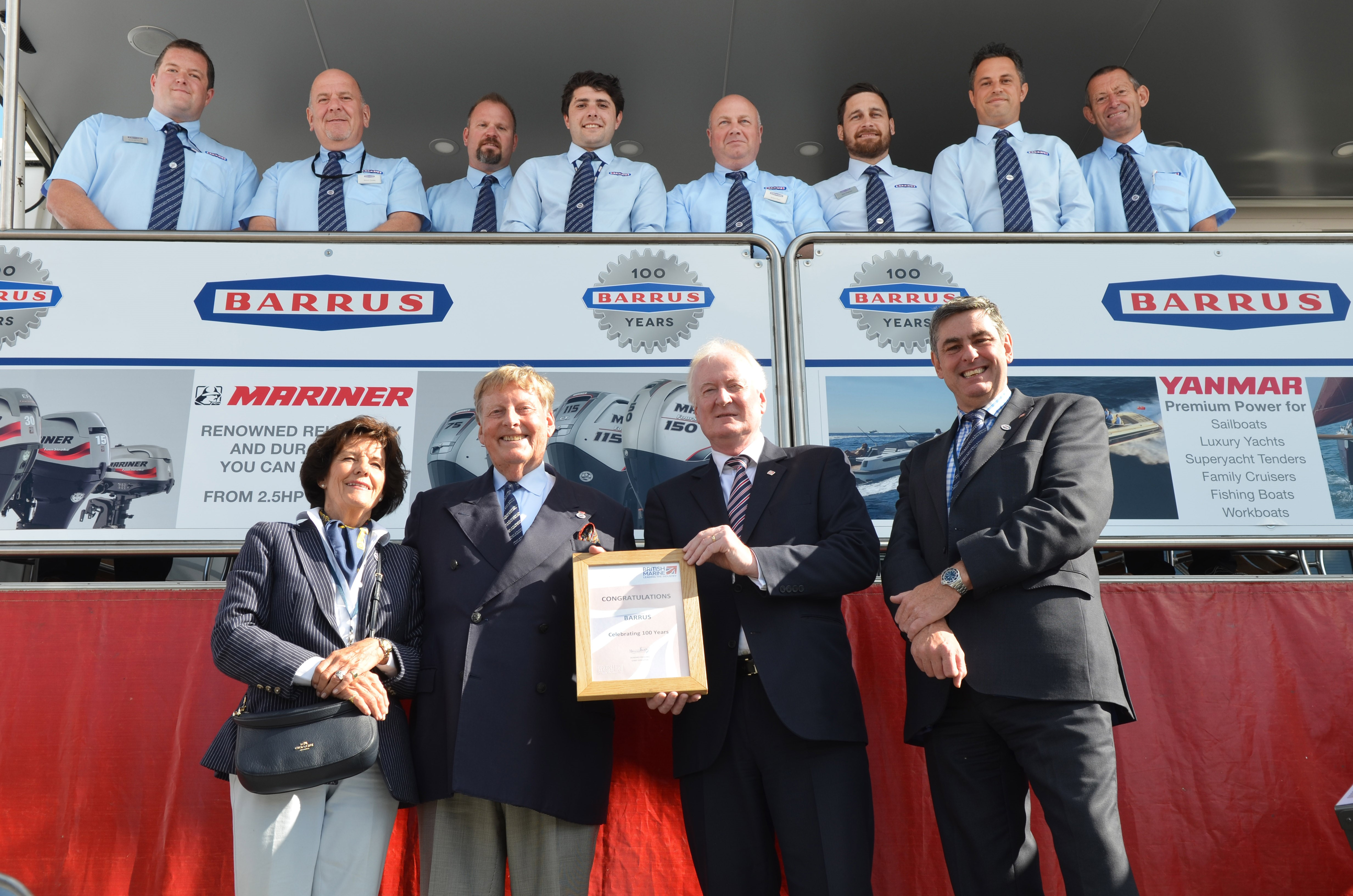 British Marine celebrates Barrus' 100 year anniversary during TheYachtMarket.com Southampton Boat Show