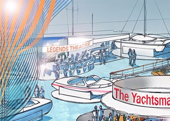 Legends Theatre at London Boat Show 2018