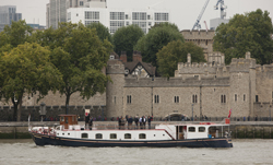 Passenger boat by the Tower of London