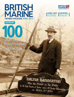 British Marine Centenary Walter Hammerton at his ferry in Twickenham
